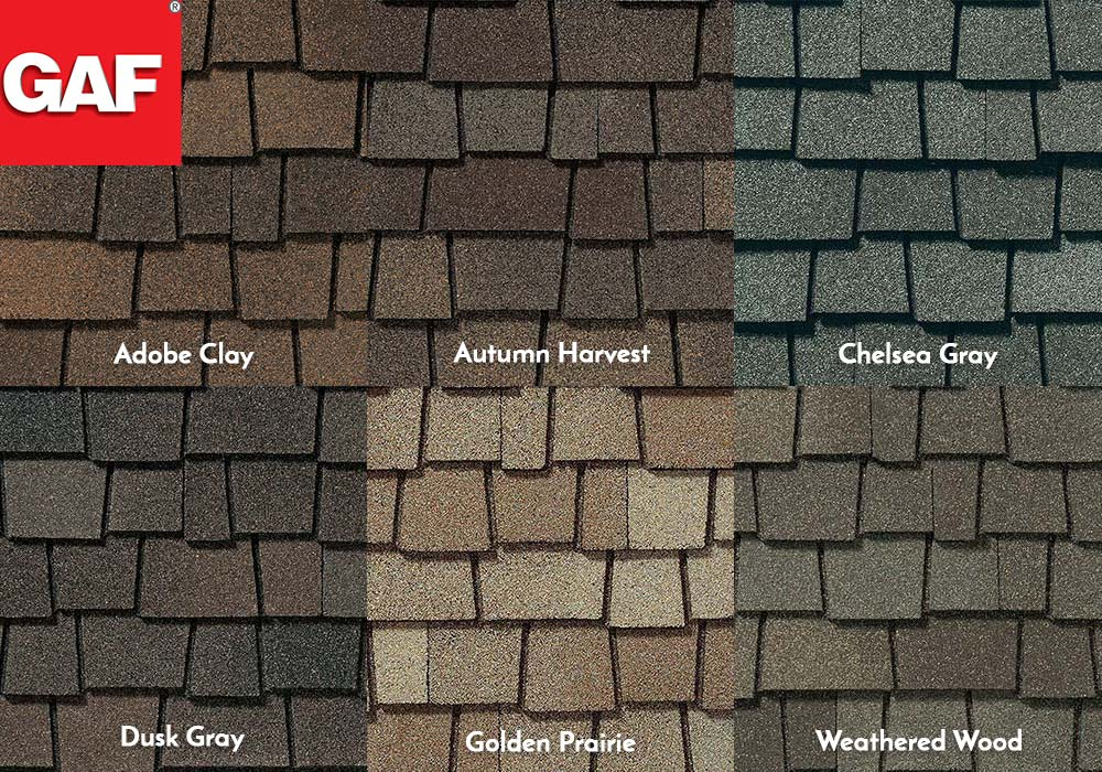 GAF Roofing Glenwood Swatches