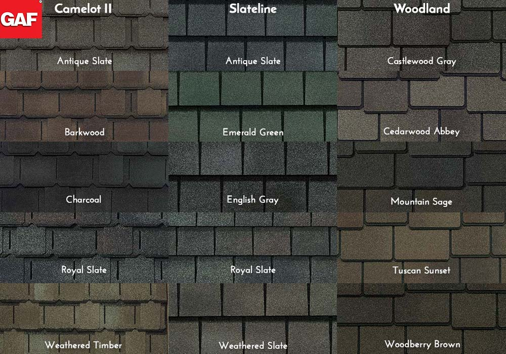 GAF Roofing Value Collection Swatches
