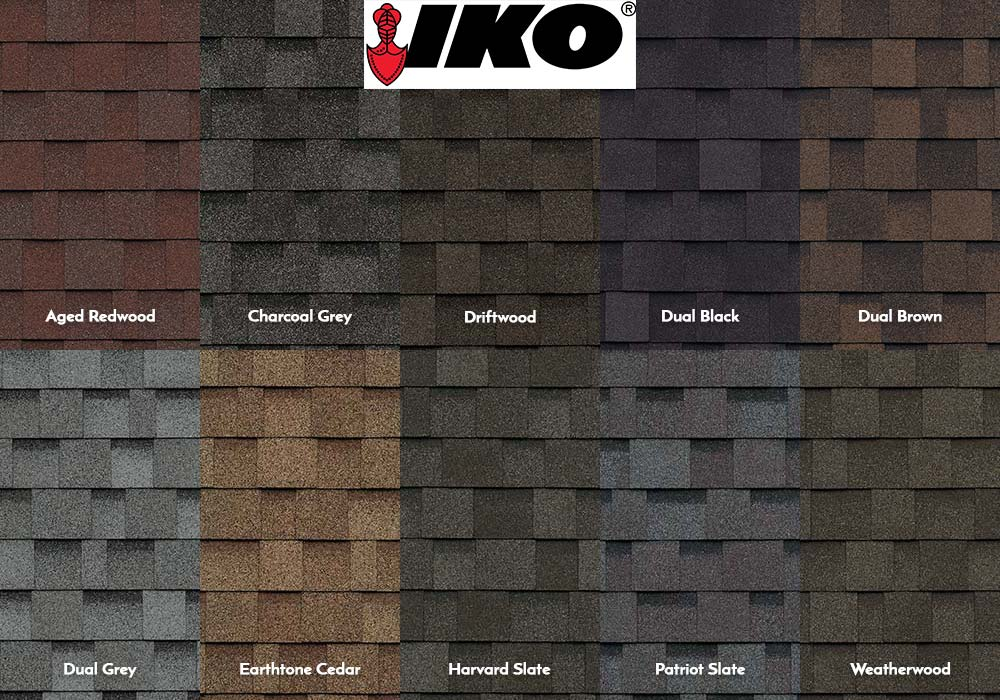 IKO Architectural Shingle Swatches