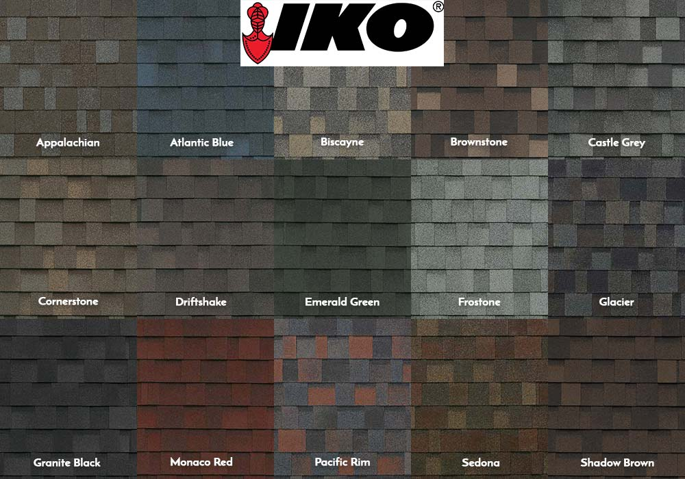 IKO Performance Shingles Swatches