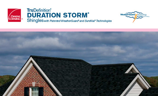 Owens Corning Roofing Duration Storm Brochure
