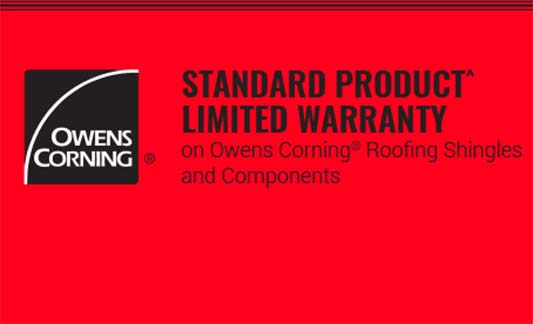 Owens Corning Roofing Standard Product Limited Warranty Brochure