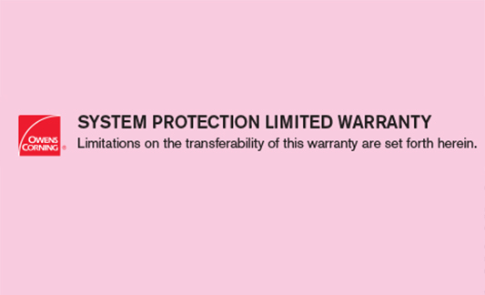 Owens Corning Roofing System Protection Limited Warranty Brochure