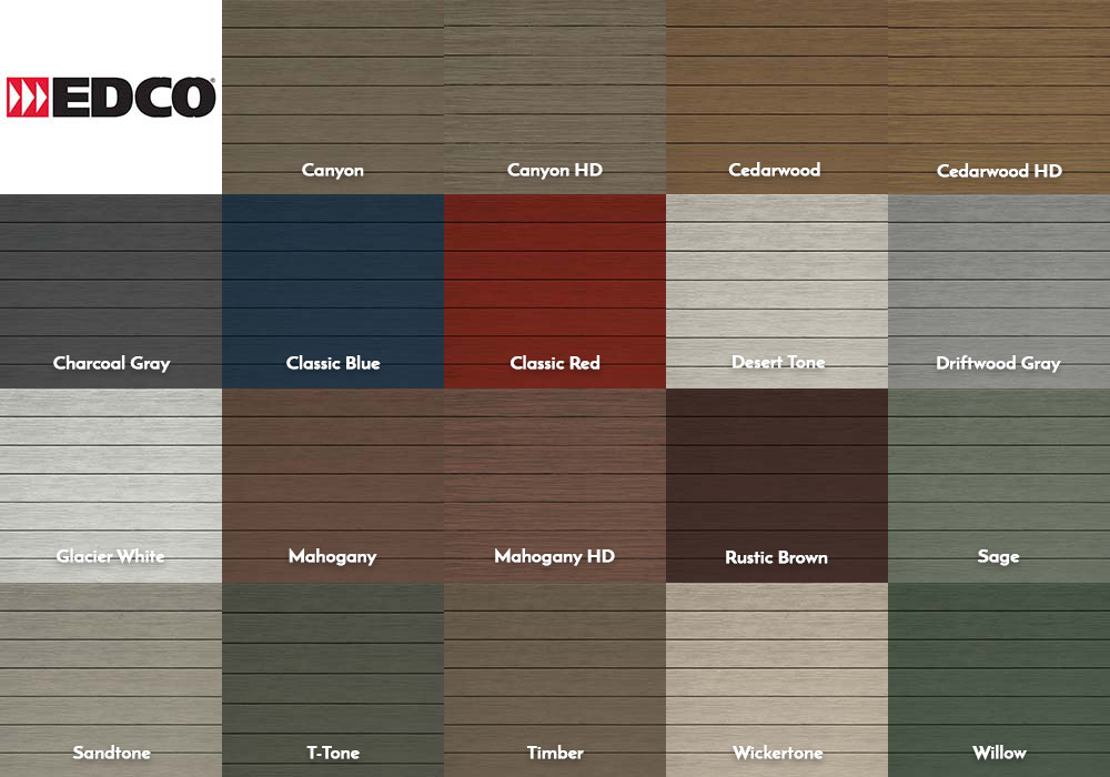 EDCO Siding Traditional Lap Swatches