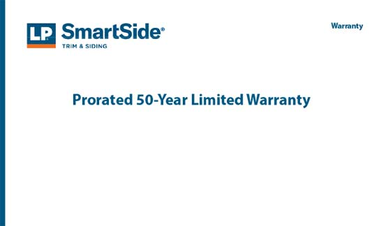 LP Siding Limited Warranty Brochure
