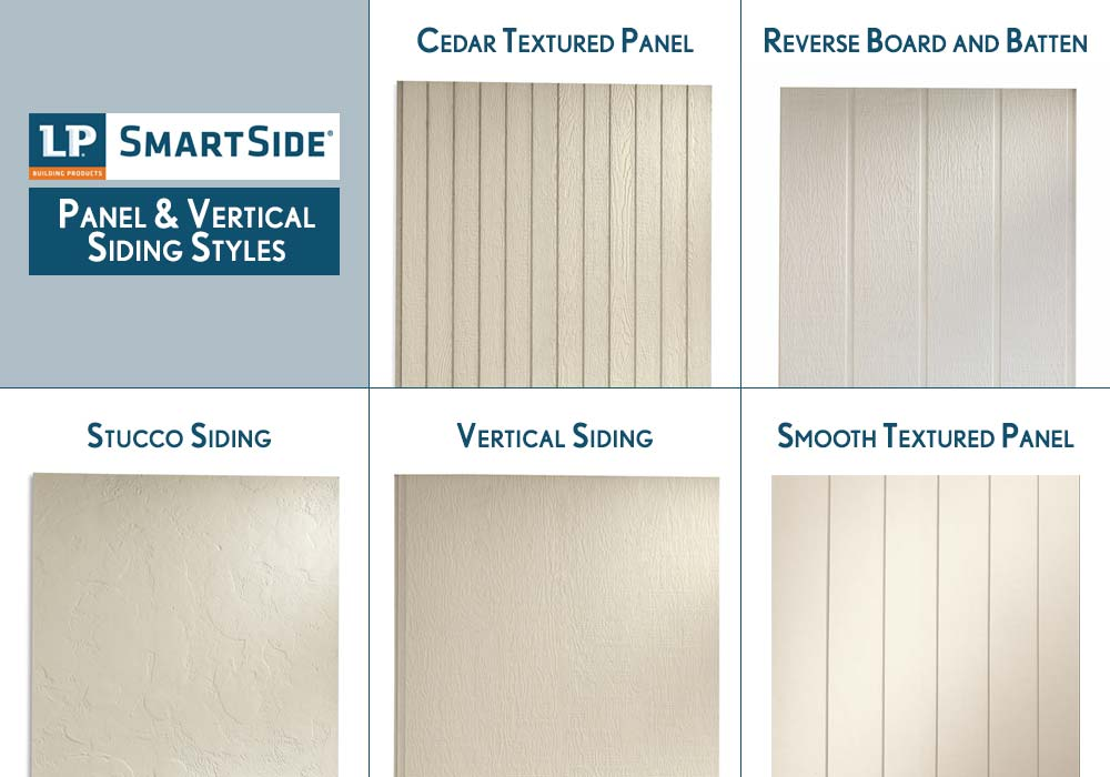 LP Smartside Panel and Vertical Siding Products Styles