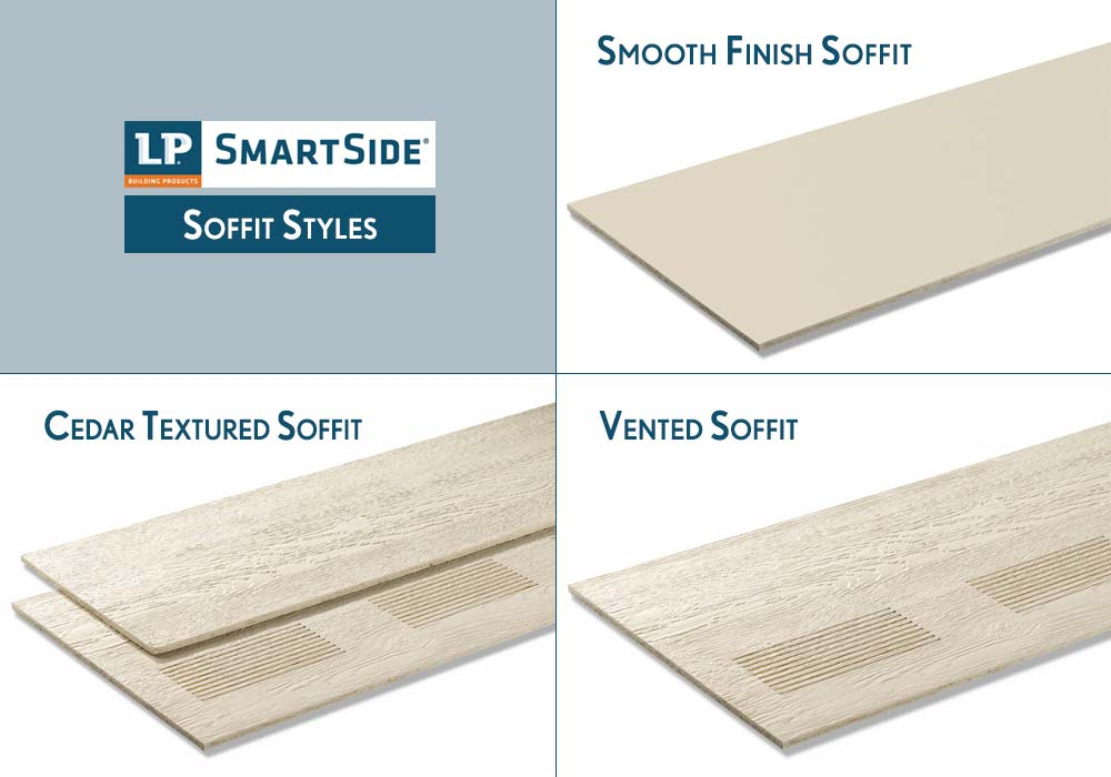 LP Smartside Soffit Products Styles