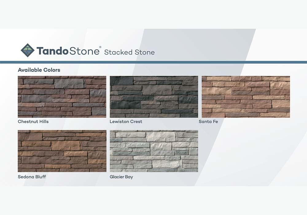 TandoStone Stacked Stone Colors