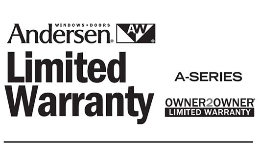 Andersen Windows A Series Limited Warranty Brochure