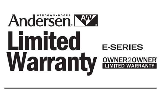 Andersen Windows E Series Limited Warranty Brochure