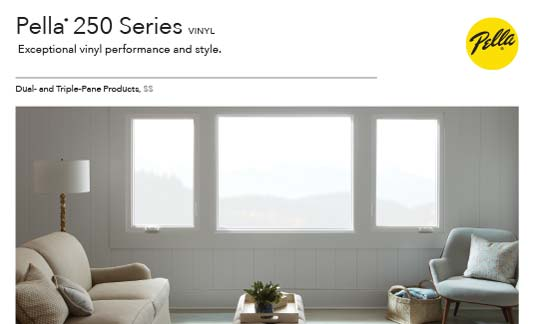 Pella Windows 250 Series Brochure