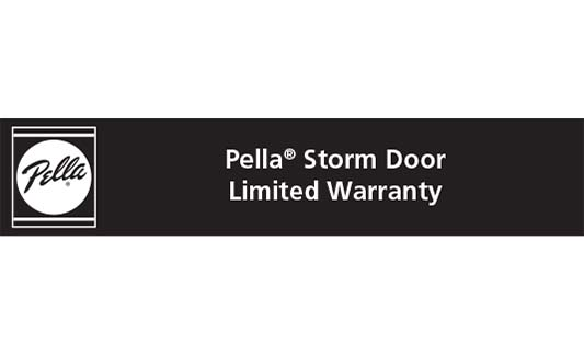 Pella Windows and Doors Storm Door Limited Warranty Brochure