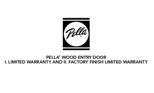 Pella Windows and Doors Wood Entry Door Limited Warranty Brochure Thumb