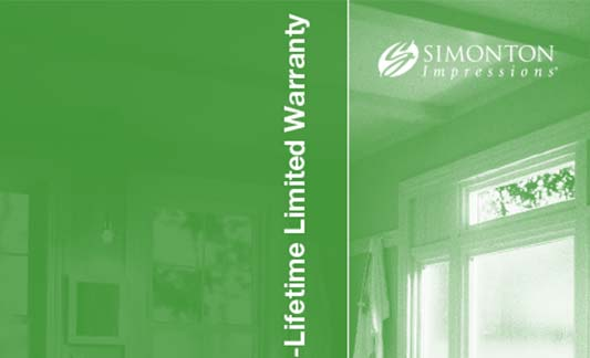 Simonton Windows Impressions Limited Warranty Brochure