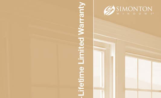 Simonton Windows Reflections Limited Warranty Brochure